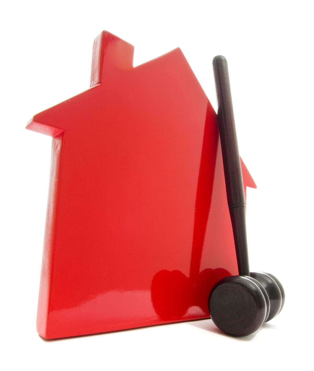red house with gavel